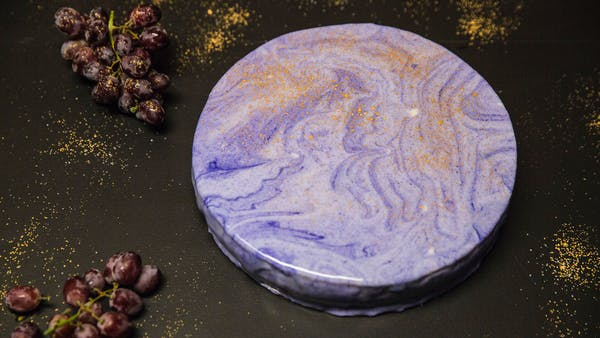 No-Bake Grape Cheesecake