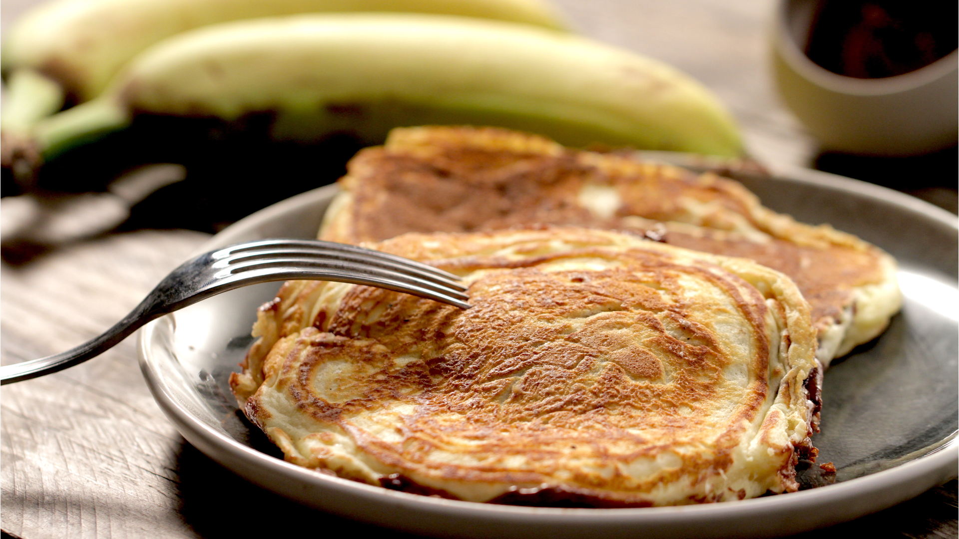 Nutella banana pancakes recipe tastemade ccuart Image collections