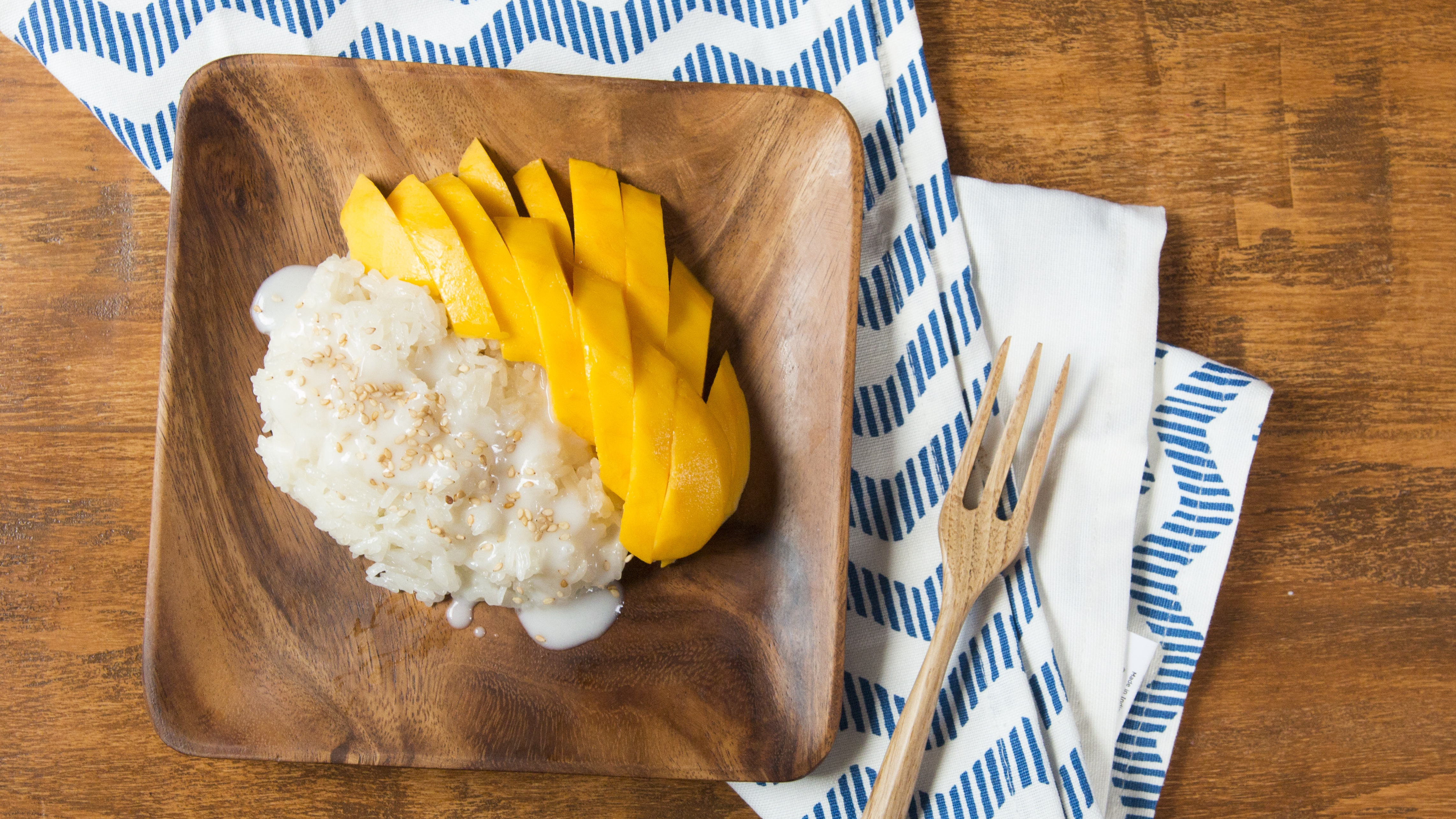 Image result for sticky rice and mango