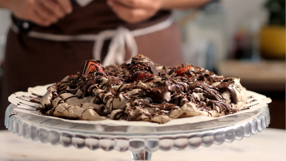 Chocolate And Strawberry Pavlova Recipe Tastemade
