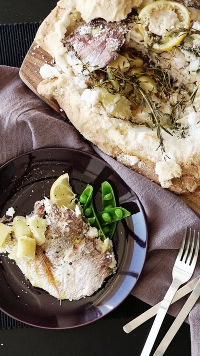Salt-Encrusted Sea Bream