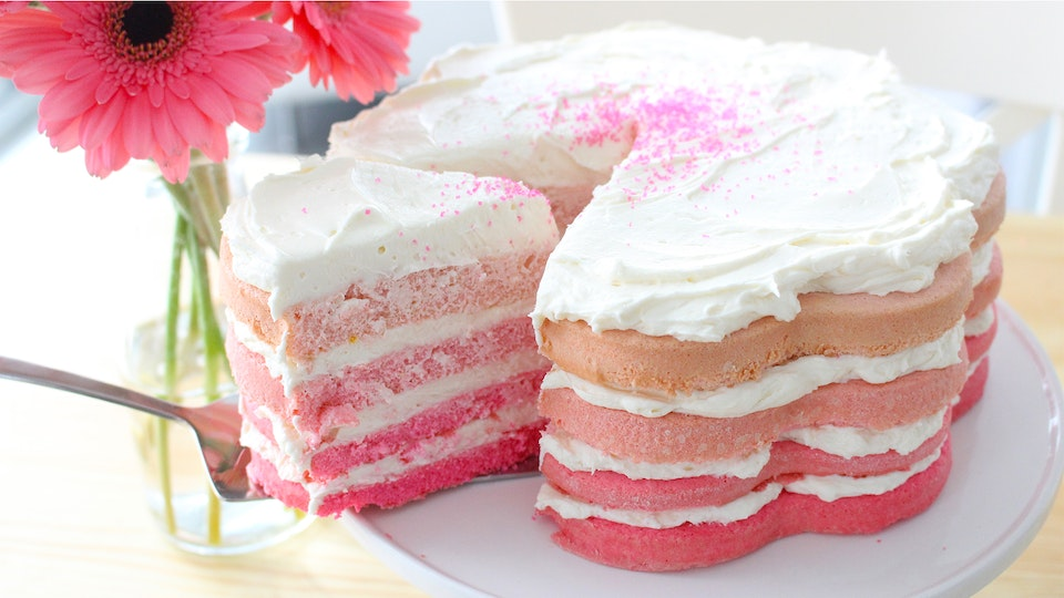 Pink Ombre Cake Recipe Tastemade