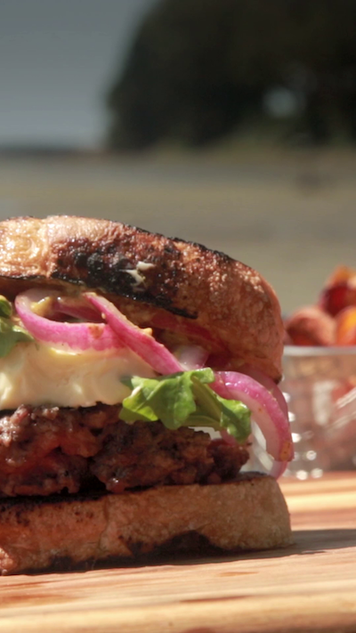 Grilled Fennel Cheeseburger